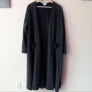 Lularoe dark gray Sarah cardigan size XL
